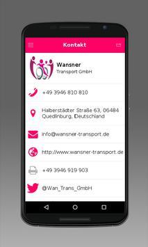 Wansner Transport GmbH apk screenshot