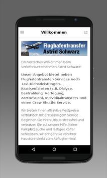 Flughafentransfer Schwarz poster