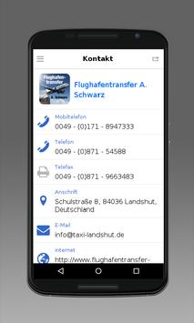 Flughafentransfer Schwarz apk screenshot