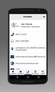 Weinstube Isarklause apk screenshot