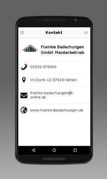 Framke Bedachungen apk screenshot