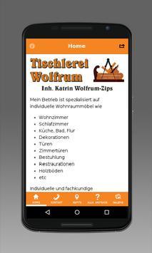 Tischlerei Wolfrum poster