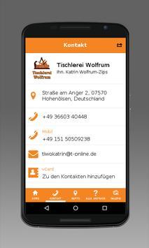 Tischlerei Wolfrum apk screenshot
