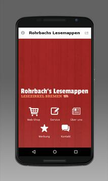 Rohrbachs Lesemappen poster