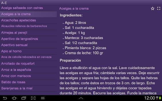 Recetas sabrosas gratis apk screenshot