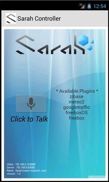 SARAH Controller - FREE poster
