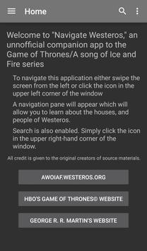 Nav Westeros: Game of Thrones poster