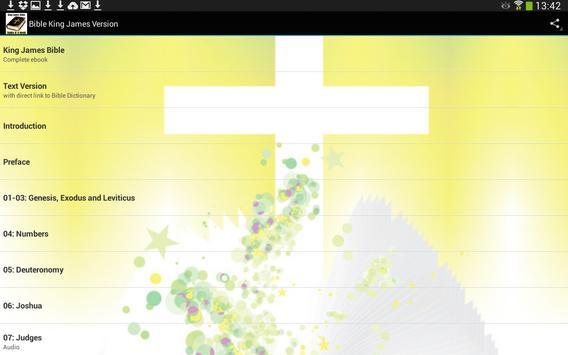 Bible King James Audio & Text apk screenshot