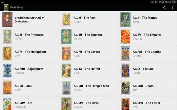 Thoth Tarot Free apk screenshot