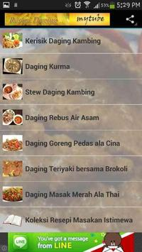 Resepi Daging poster