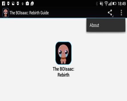 The BOIsaac: Rebirth Guide apk screenshot