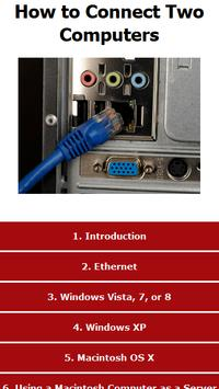 How to Connect Two Computers poster