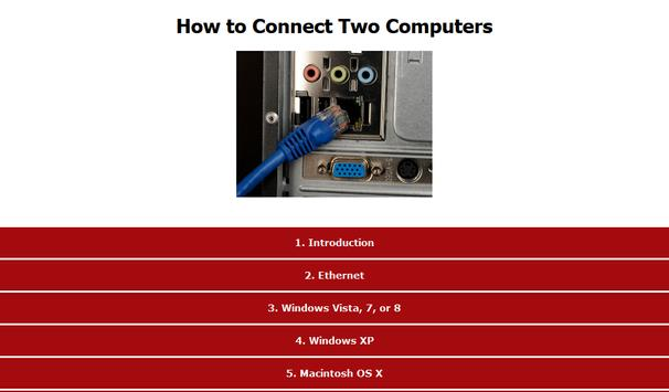 How to Connect Two Computers apk screenshot