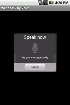 Write SMS by Voice LITE apk screenshot
