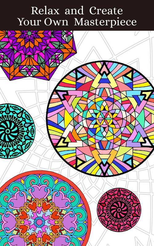 Mandalas Adult Coloring Book APK Download