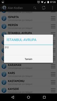 Turkey Phone Area Codes apk screenshot