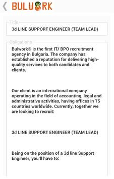 Jobs Bulwork apk screenshot