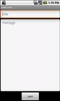 SMS Draft apk screenshot