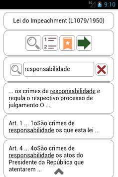 Texto de Lei Impeachment apk screenshot
