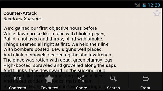 Poetry of World War One apk screenshot