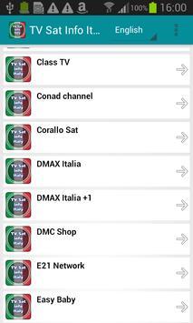TV Sat Info Italy apk screenshot