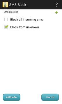 SMS Block - number blacklist poster