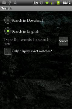 Dovahzul Dictionary apk screenshot