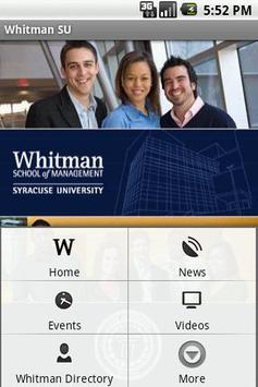 Whitman SU poster