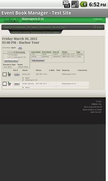 Event Book Manager apk screenshot