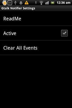 Gtalk Notifier apk screenshot