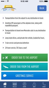 AVIV V.I.P TAXI to Airport poster
