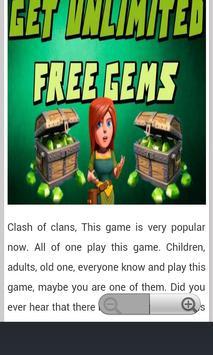Free Gems Updated 2016 apk screenshot