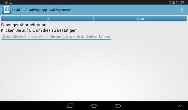 Lavid Auftrags-App poster