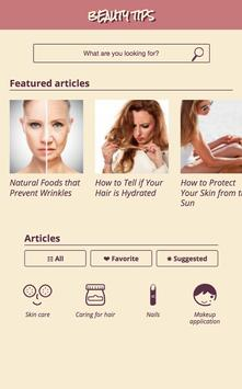 Beauty tips for skin & hair poster