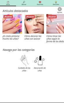 Consejos para uñas perfectas poster