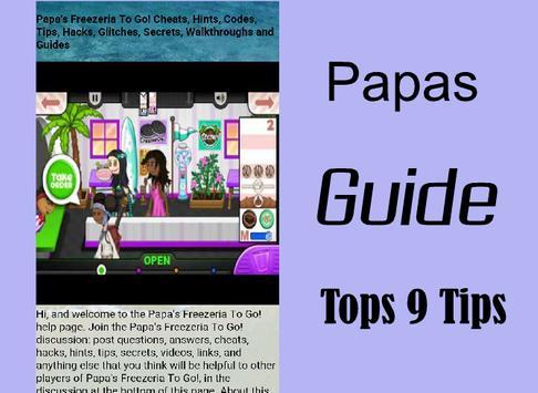 Tips for Guide Papas Freezer apk screenshot