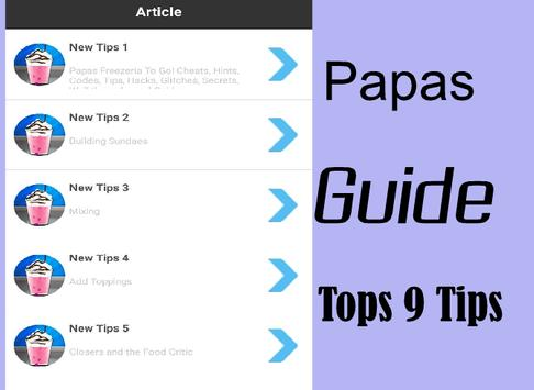 Tips for Guide Papas Freezer poster