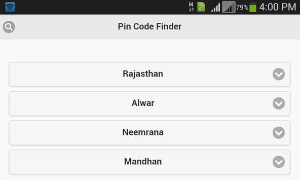 Pin Code Finder apk screenshot