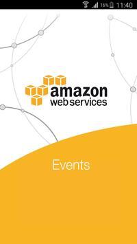 Amazon Web Services DE Events poster