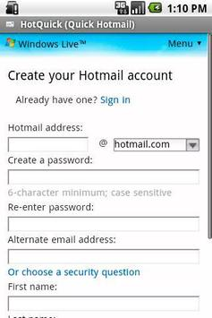 HotQuick (Quick Hotmail) apk screenshot