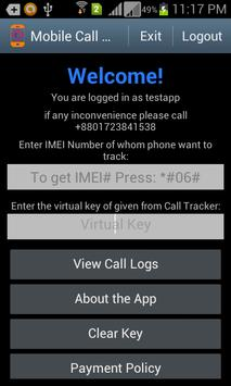 Mobile Call Tracker apk screenshot