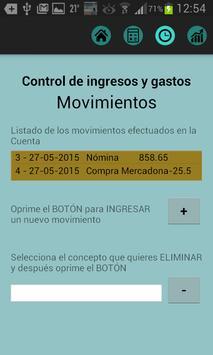 Control de Ingresos y Gastos apk screenshot