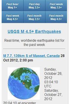 USGS Earthquake Data poster