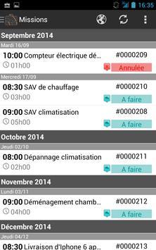 SuiviMissions apk screenshot