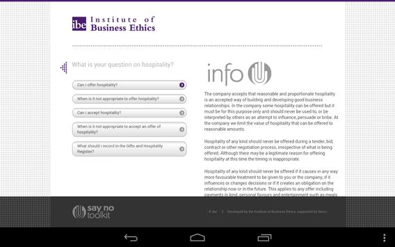 IBE Say No Toolkit for tablets apk screenshot