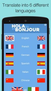 Hola Bonjour translation tool apk screenshot