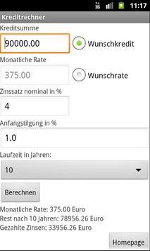 Kreditrechner apk screenshot