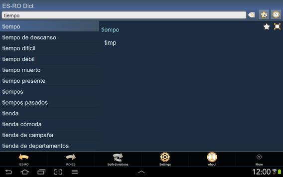 Spanish Romanian dictionary apk screenshot