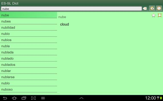 Spanish Slovenian dictionary apk screenshot