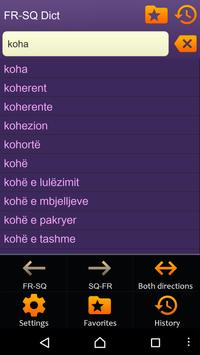 French Albanian dictionary apk screenshot